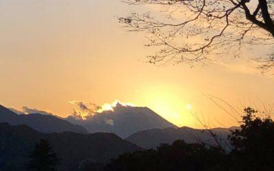 大垂水峠山頂から見る夕日